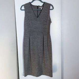 Banana Republic Houndstooth Wool Dress